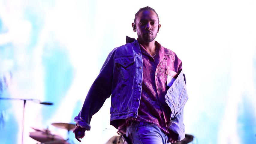 Rapper Kendrick Lamar bei einem Konzert in Kalifornien
