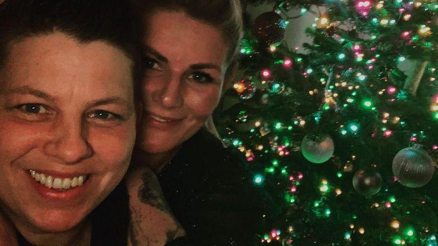 Kerstin Ott und ihre Frau Karolina Köppen im Dezember 2020