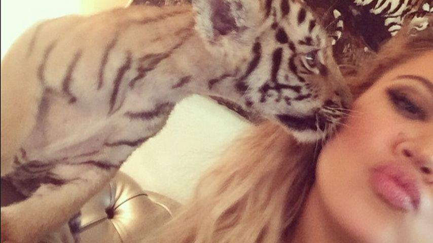 Khloe Kardashian sorgt mit Tiger-Kuschelei für Shitstorm