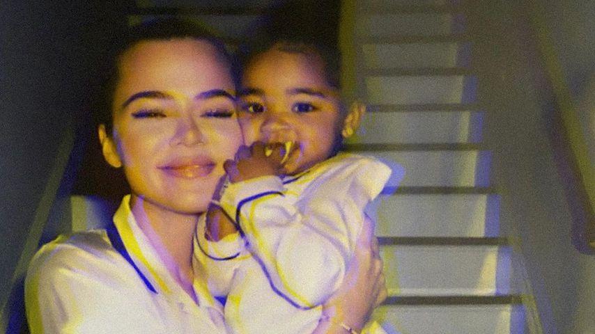 Khloé Kardashian und True Thompson um März 2020