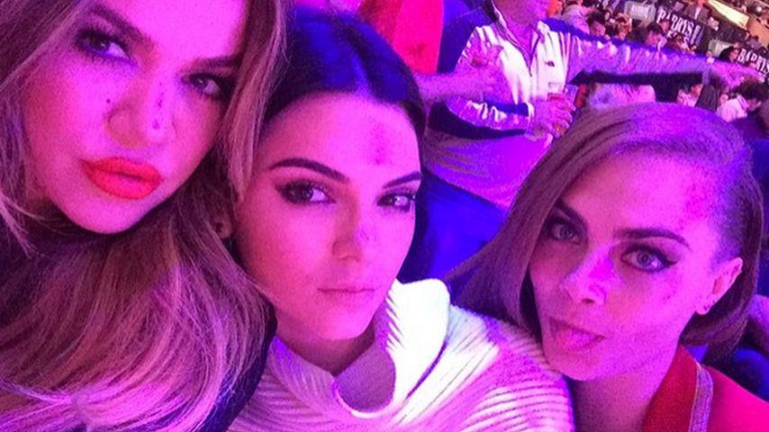 Khloe Kardashian, Kendall Jenner und Cara Delevingne