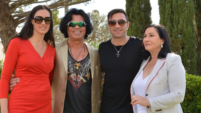 Kiki, Costa, Lucas und Ingrid Cordalis im März 2015