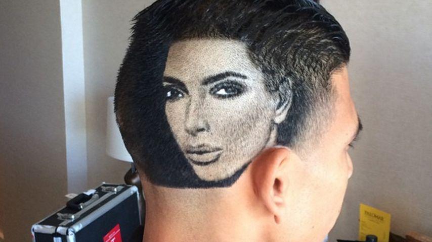 Kim Kardashian auf dem Kopf! Das ist echt rasiert