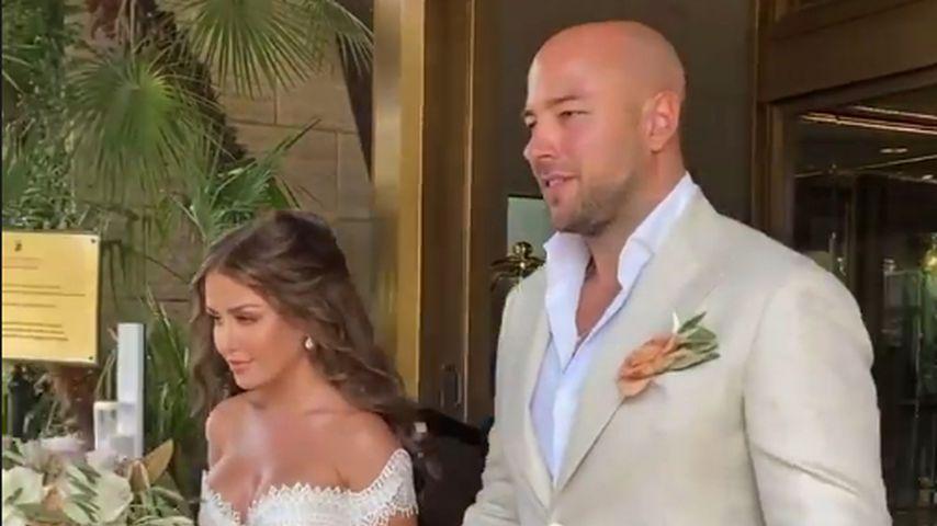 Kim Gloss und Alex Beliaikin an ihrer Hochzeit