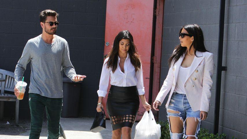 Kim Kardashian, Kourtney Kardashian und Scott Disick