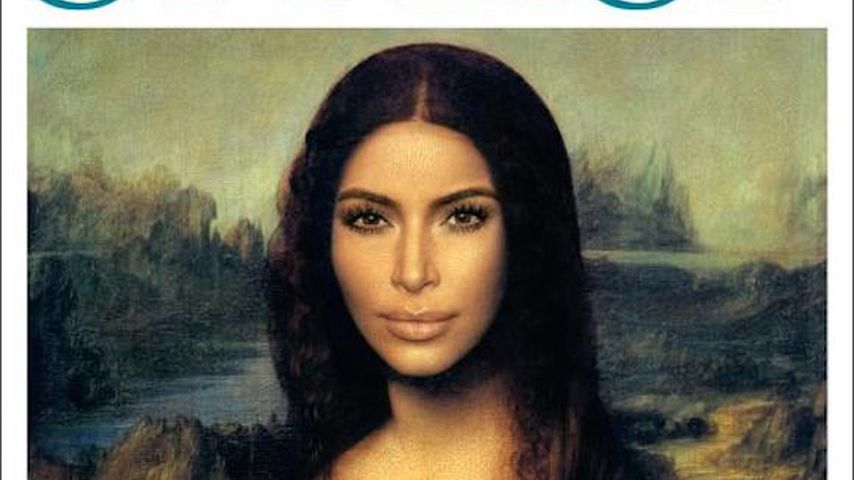 Neuer Look: Kim Kardashian kunstvoll als Mona Lisa