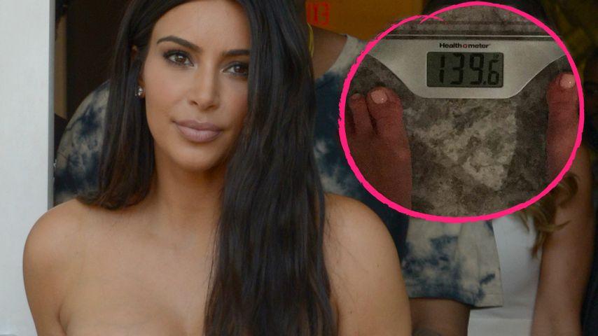 Kim Kardashian in Ekstase: 2 Kilo bis zum Vor-Baby-Gewicht!