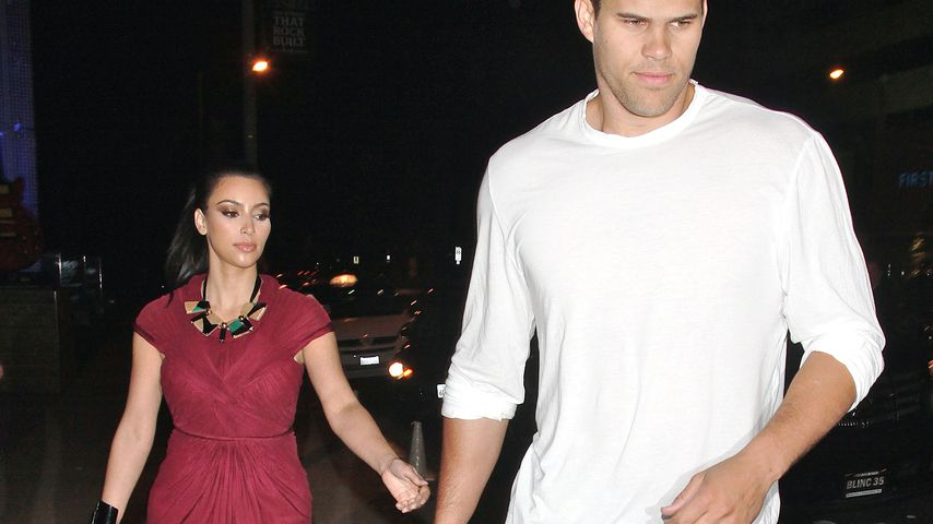 Kim Kardashian und Kris Humphries beim Verlassen eines Restaurants im Mai 2011