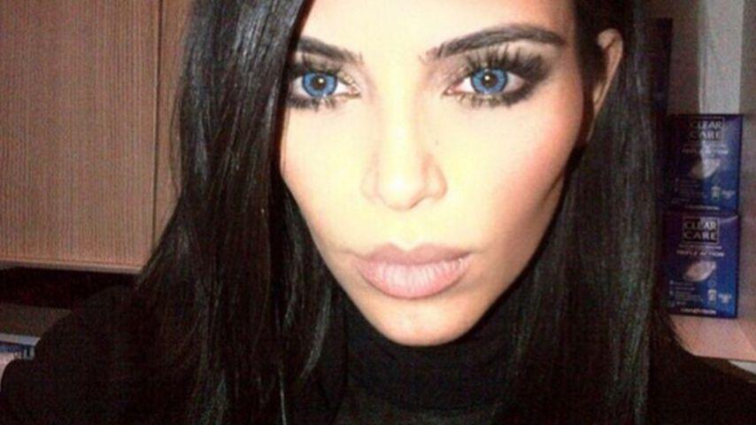 Wow! Kim Kardashian hat plötzlich blaue Augen