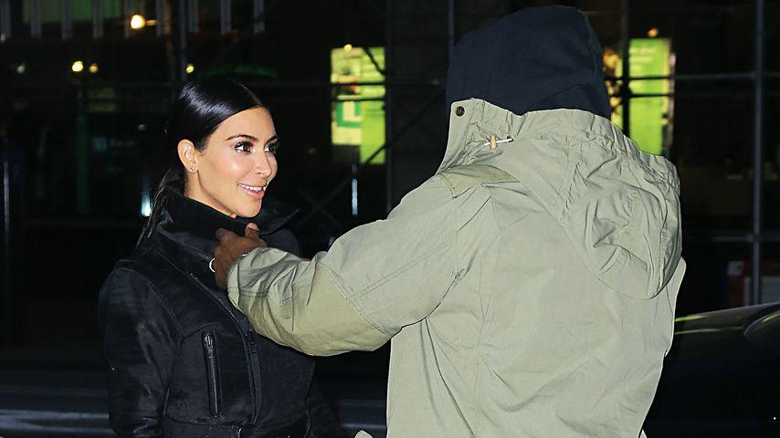Ungewohnt: Kim Kardashian & Kanye ganz verliebt