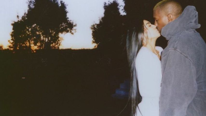 Love is in the Air! Kim & Kanye knutschen am Valentinstag