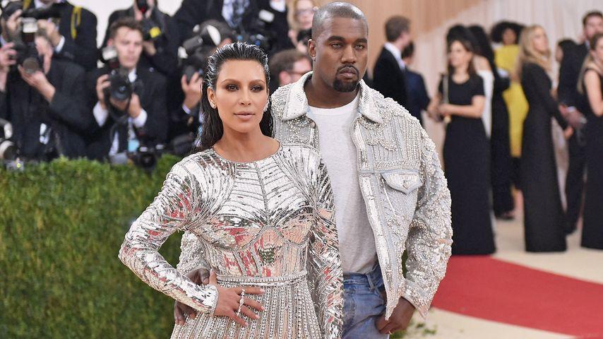 Kim Kardashian und Kanye West bei der MET-Gala in New York