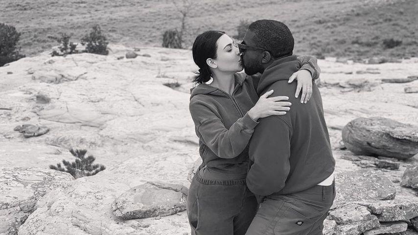 Vier Kids und noch total verliebt: Kim und Kanye knutschen!