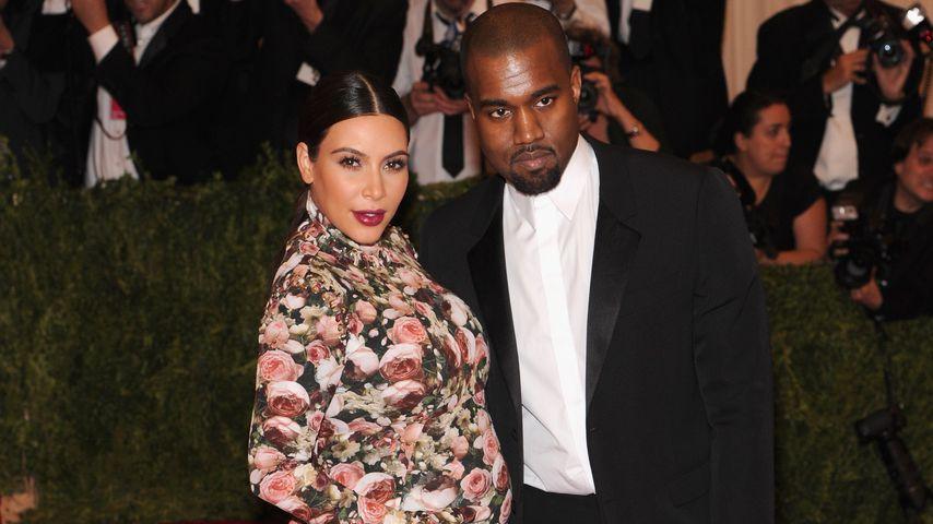 Kim Kardashian und Kanye West bei der Met Gala 2013