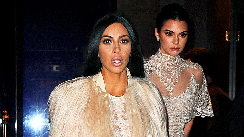 """Kim Kardashian und Kendall Jenner am Set von """"Ocean's Eight"""" in New York"""