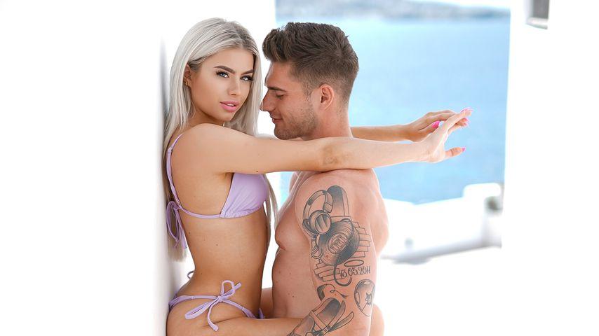 Kim Schiele mit ihrem Freund DJ Isek