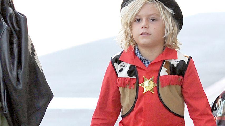 Hände hoch! Kingston Rossdale (7) ist der Sheriff
