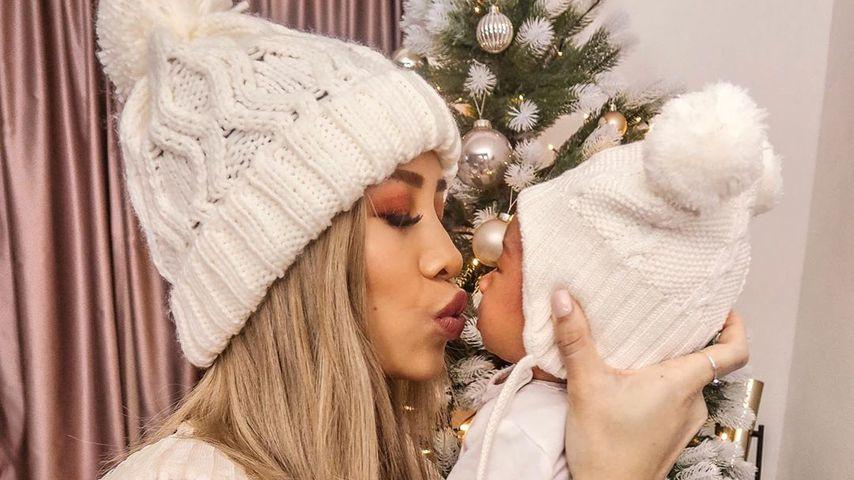 Internet-Star Kisu mit ihrem Baby