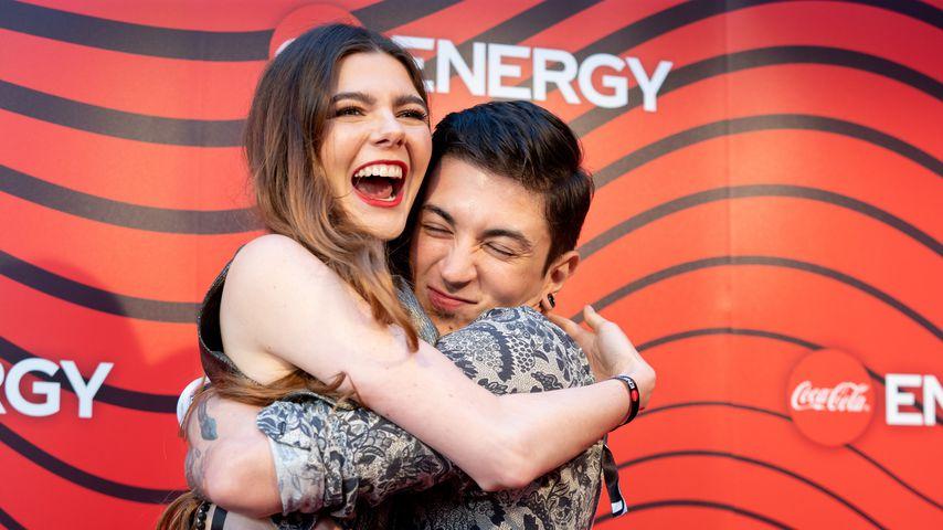 Klaudia Giez und Felipe Simon beim Coca Cola Energy Release in Hamburg