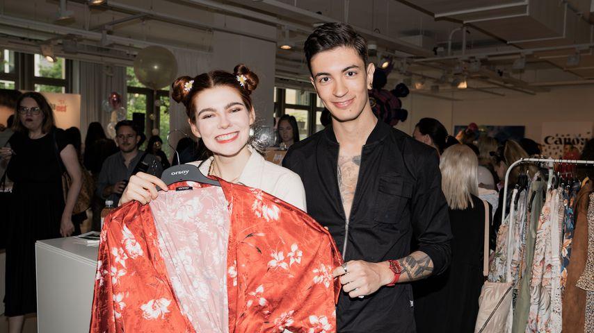 Klaudia Giez und Felipe Simon bei der Berlin Fashion Week 2019