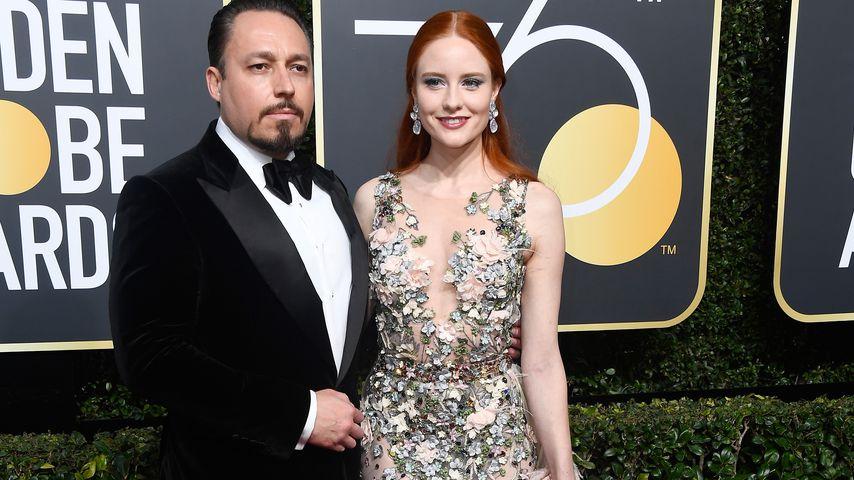 Klemens Hallmann und Barbara Meier bei den Golden Globes 2018