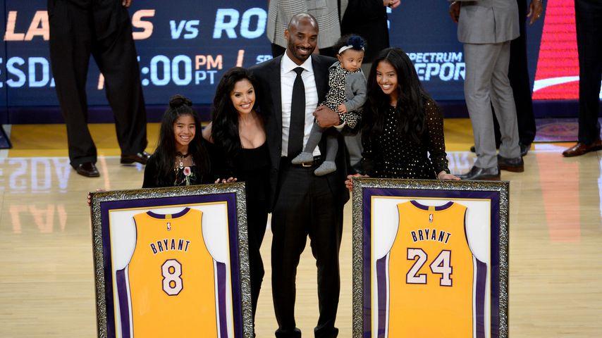Basketball-Star Kobe Bryant mit seiner Familie 2017 in Los Angeles