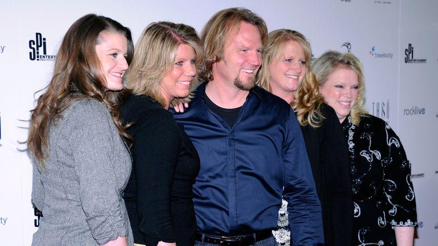 Kody Brown mit seinen Frauen Robyn, Meri, Christine und Janelle im Jahr 2012