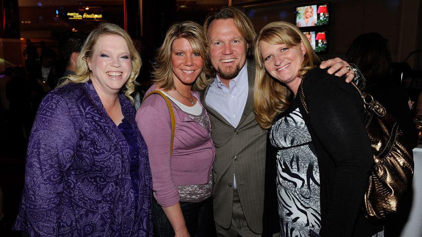 Kody Brown mit seinen Ehefrauen Janelle, Meri und Christine