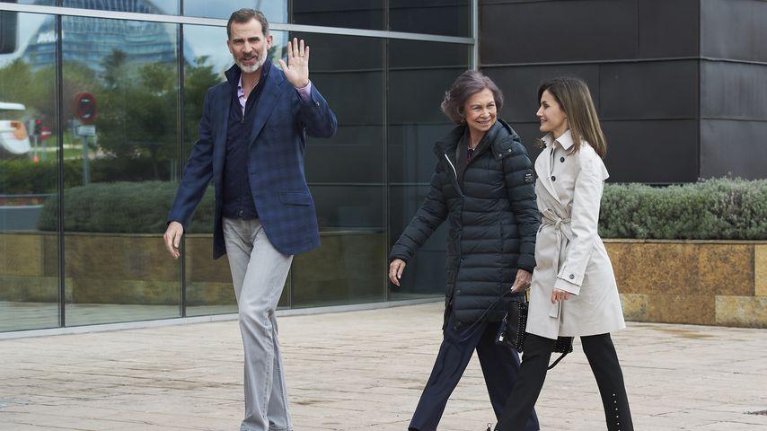 König Felipe, seine Mutter Sofia und Ehefrau Letizia
