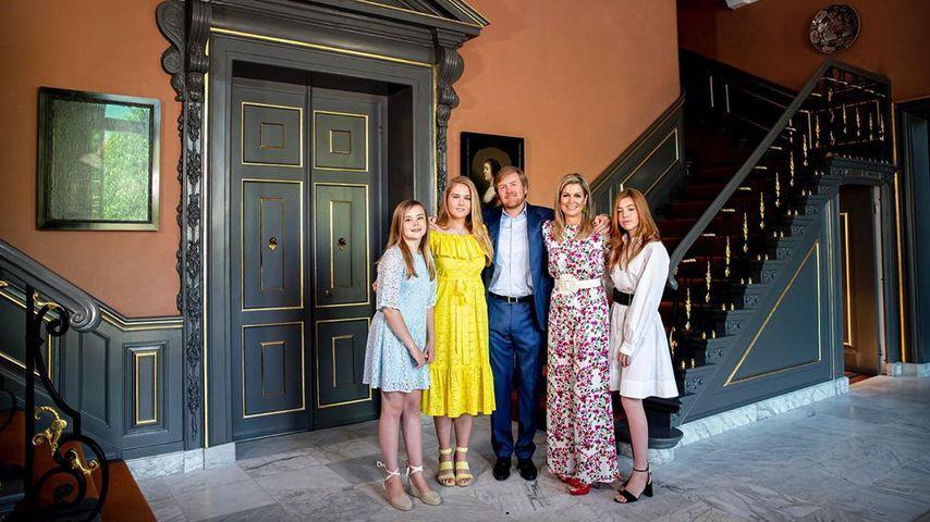 König Willem-Alexander und Königin Maxima mit ihren Töchtern Ariane, Amalia und Alexia