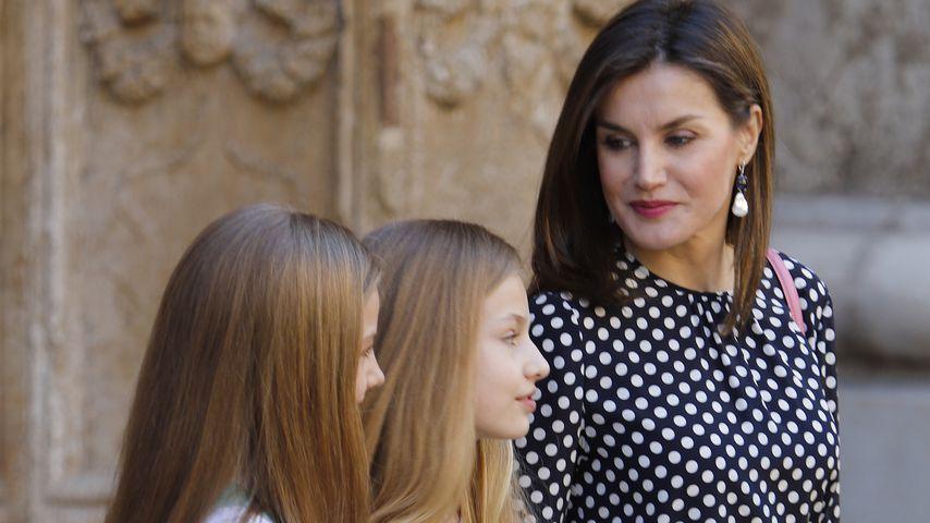 Königin Letizia von Spanien mit ihren beiden Töchtern
