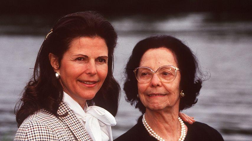 Königin Silvia und ihre Mutter Alice Sommerlath im Jahr 1991