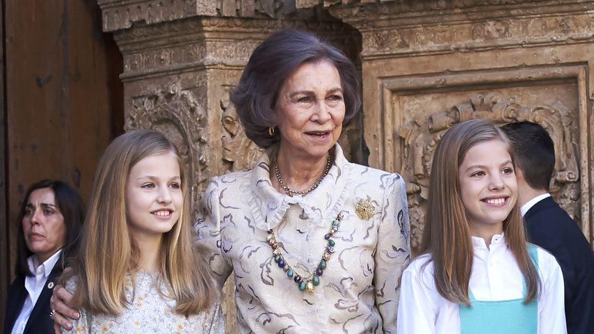 Königin Sofia mit ihren Enkelinnen Leonor und Sofía