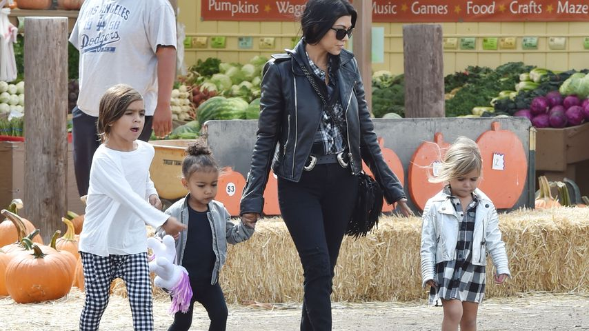 North West, Kourtney Kardashian, Penelope Disick und Mason Disick