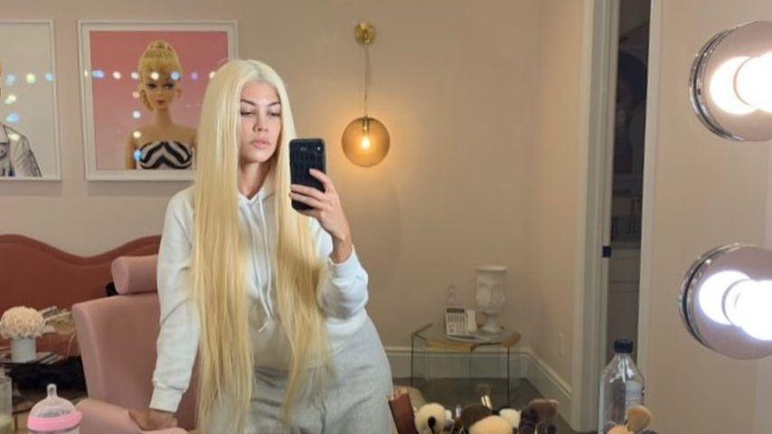 Blonde XXL-Mähne: Kourtney Kardashian kaum wiederzuerkennen!