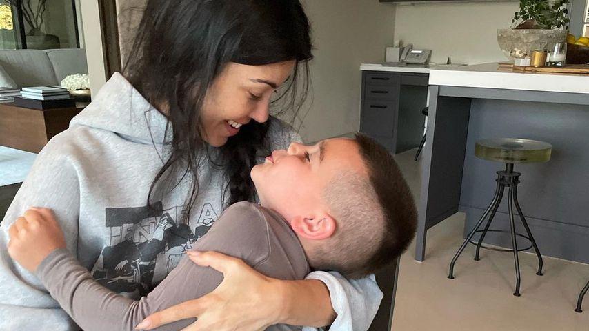 Kourtney Kardashian mit ihrem Sohn Reign Disick