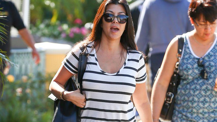 Schon 20 kg weg! Kourtney Kardashian kämpft gegen Babypfunde