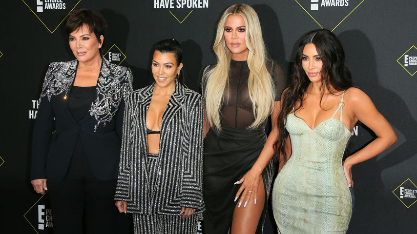 Kris Jenner mit Kourtney, Khloé und Kim Kardashian