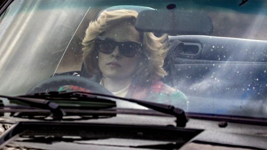 """Kristen Stewart als Prinzessin Diana am Set des Films """"Spencer"""""""