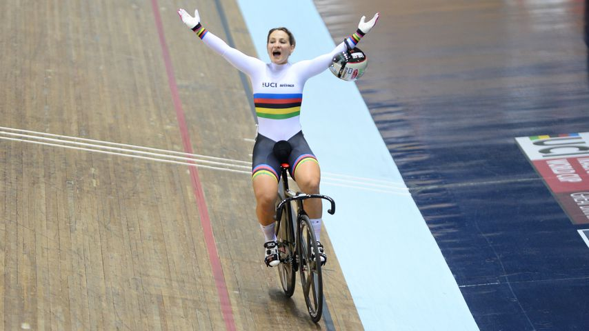 Kristina Vogel im National Cycling Centre in Manchester
