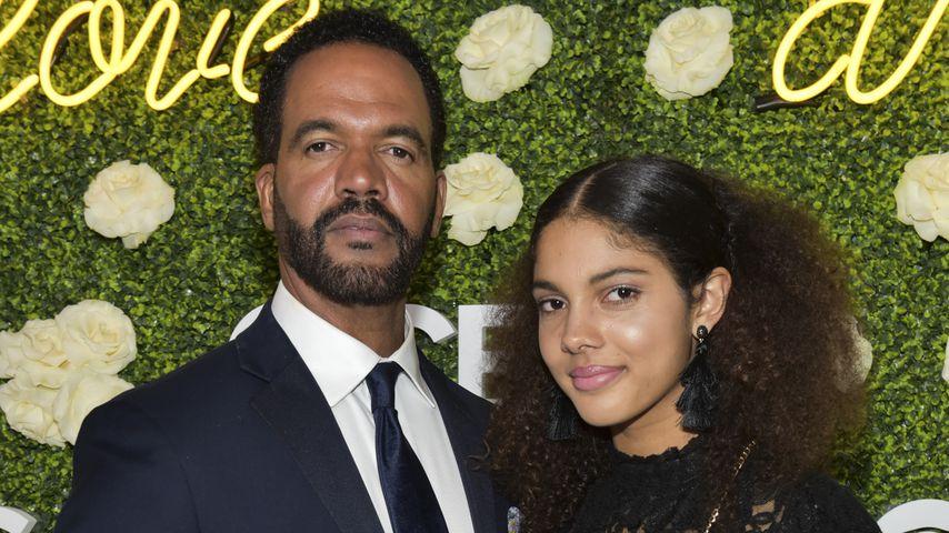 Kristoff St. John und seine Tochter Paris in Pasadena, Kalifornien 2018