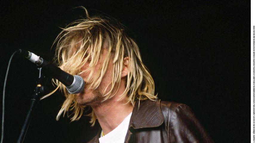 Kurt Cobain beim Reading Rock Festival 1991