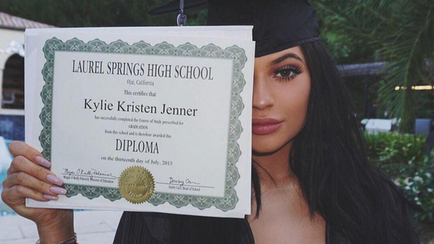 Normal geblieben: So feiert Kylie Jenner den Schulabschluss