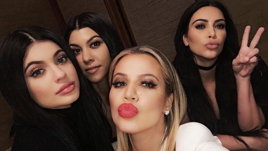 Kylie Jenner mit Kourtney, Khloe und Kim Kardashian