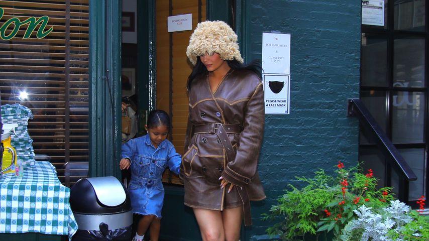 Kylie Jenner mit Töchterchen Stormi in New York, September 2021