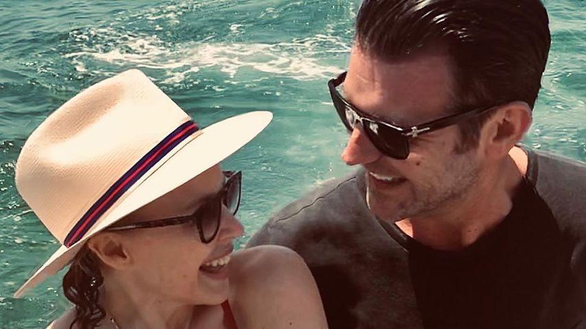 Kylie Minogue und Paul Solomons, Dezember 2019