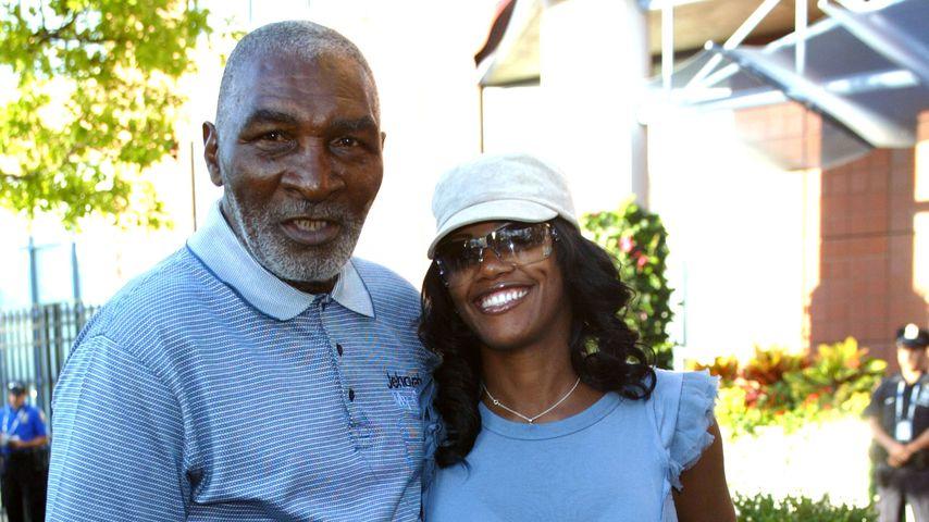 Richard Williams, Vater der Tennisstars Venus und Serena, mit Freundin Lakeisha im Jahre 2009
