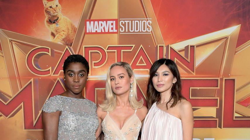"""Lashana Lynch, Brie Larson und Gemma Chan bei der """"Captain Marvel""""-Premiere in Hollywood 2019"""
