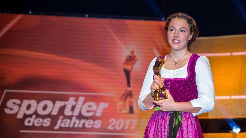 Laura Dahlmeier bei der Wahl zur Sportlerin des Jahres 2017