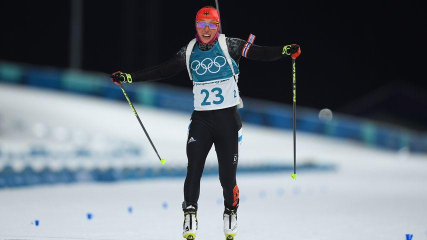 Laura Dahlmeier beim Olympia-Wettkampf 2018